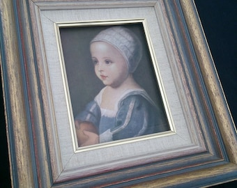 Vintage Art Reproduction in Decorative Gilded Wooden Frame. Print of The Infant Son of Charles I. by Anthony van Dyck ROP0090