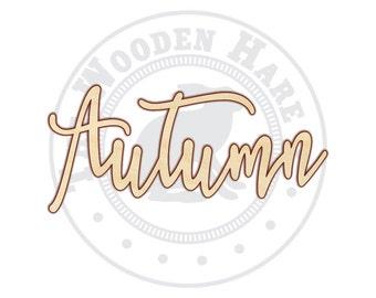 Autumn - Autumn Sign - Autumn Wood Sign - Autumn Decor - Wood Words - Wooden Words - 160221
