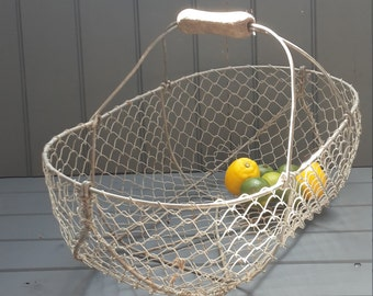 French vintage wire basket.