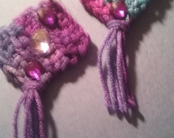 Crocheted earrings