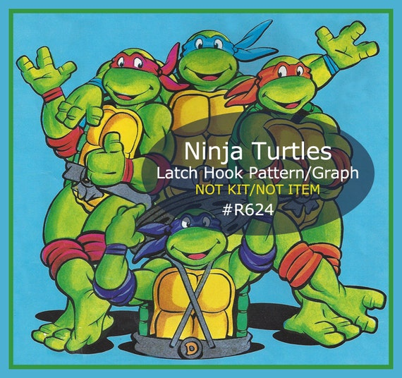 Ninja Turtles Latch Hook Ninja Turtles Rug Or Wallhanging