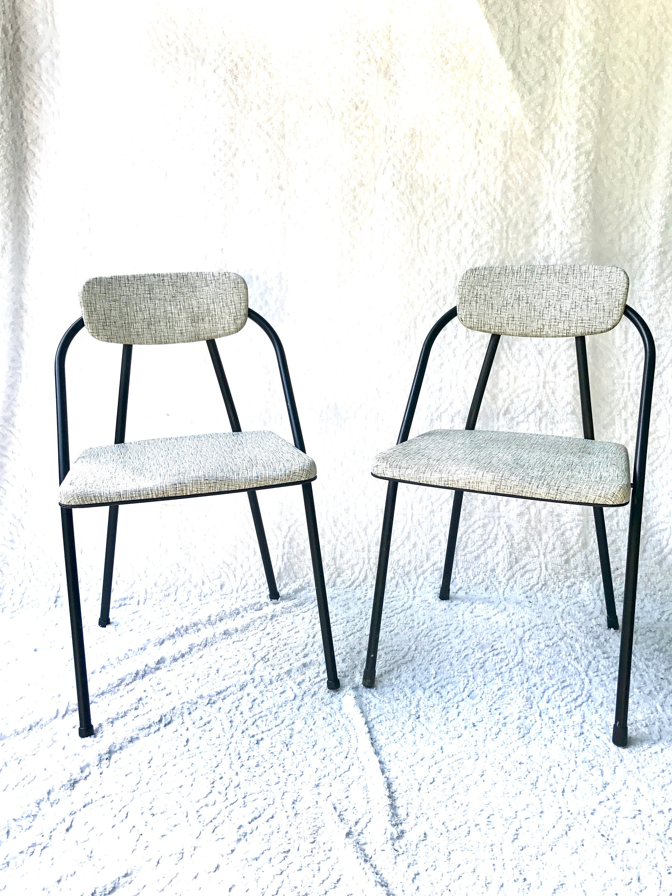 Pair of Hamilton Cosco Folding Chairs Cosco Stylaire Padded