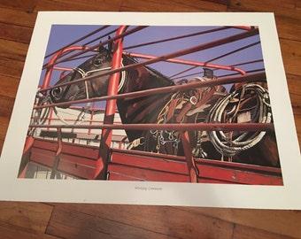 Art Jerry McAdams Print Workday Commuter