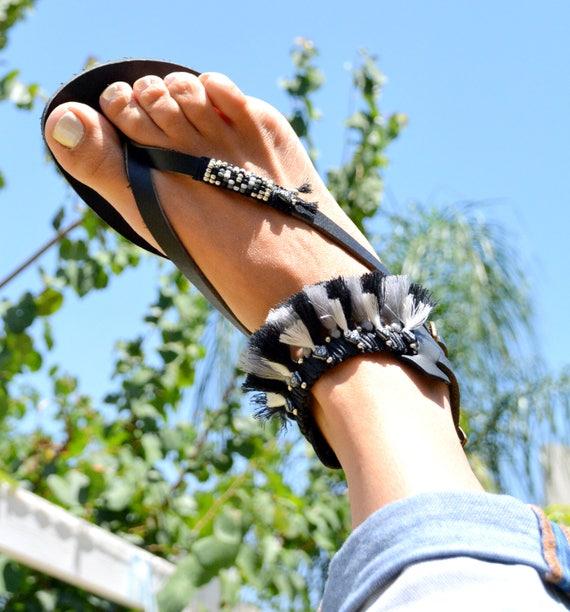 Sandals Sandals Women Summer Greek Leather Sandals Sandal Sandal Sandals Black Strappy Sandals Shoes Sandals Gladiator Bohemian I50Rwnq5d