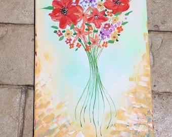 """Summer Flowers (10x20"""")"""