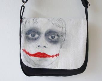 Handbag, bag shoulder strap, for women, red and black, red, black