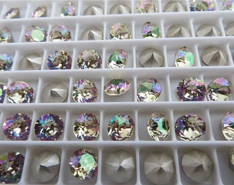 24 Luminous Green Foiled Swarovski Crystal Chaton Stone 1088 29ss 6mm