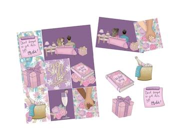 To Us Weekly Sticker Kit/ Erin Condren, Happy Planner, B6, Mini Kit