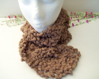 Neck Warmer, Scarflette Chocolate or Sage