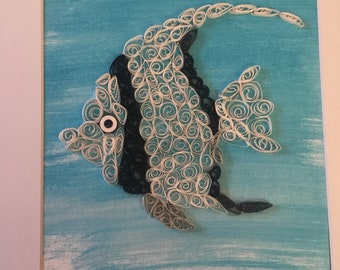 Paper Quilled Fish of the Sea