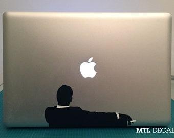 "Mad Men Inspired Macbook Decal / Macbook Pro Sticker (8.17"" x 3.89"")"