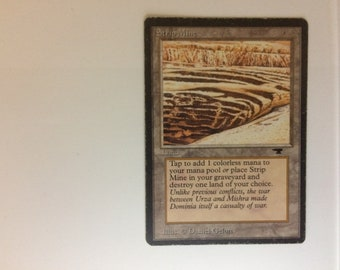 Magic the Gathering, Strip Mine, Antiquities, Land, Colorless, 1994, MTG