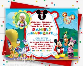 Mickey mouse invitation etsy mickey mouse birthday invitation filmwisefo