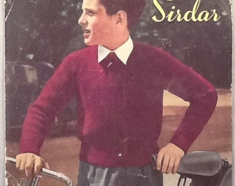 Original 'Growing up in Sirdar' Knitting Pattern Boys Jumper Ages 10-16 years