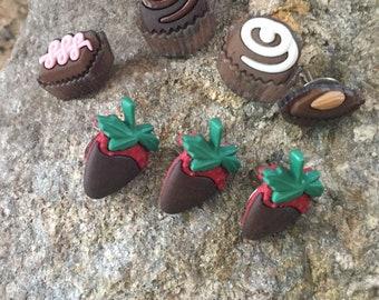 Chocolate Treats Push Pins - Pushpins - Cute Push Pins - Decorative Push Pins - Message Board - Cork Board - Office Décor