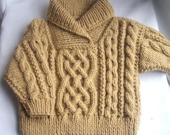 Liam cross-neck sweater for baby or toddler PDF knitting pattern