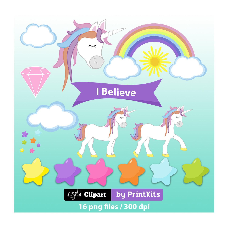 Cute Unicorn Clipart Rainbow Unicorn Clip Art Unicorns Party