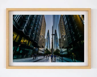 Reflections of The Shard - London Photography Print. London Wall Art Print, The Shard London, London Photography Print, London Print.