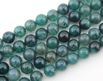 10%OFF 8mm Agate Beads Blue Agate Beads Gemstone Beads Round Ball Beads Blue  Beads ----about ---15inch --One Full Strand-NS119