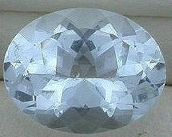 9x7 oval light blue aquamarine gem stone gemstone