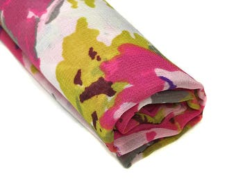 "Pink Fabric, Silky Fabric, Polyester Fabric, Lightweight Fabric, Destash Fabric, 1 Yard, 52"" Wide"