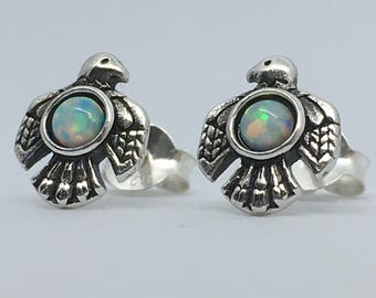 Phoenix Opal Sterling Silver Stud Earrings