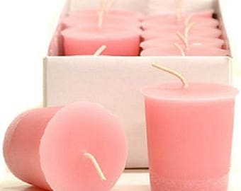 15 Hour Pastel Pink Unscented Soy Votive Candles Pick A Pack