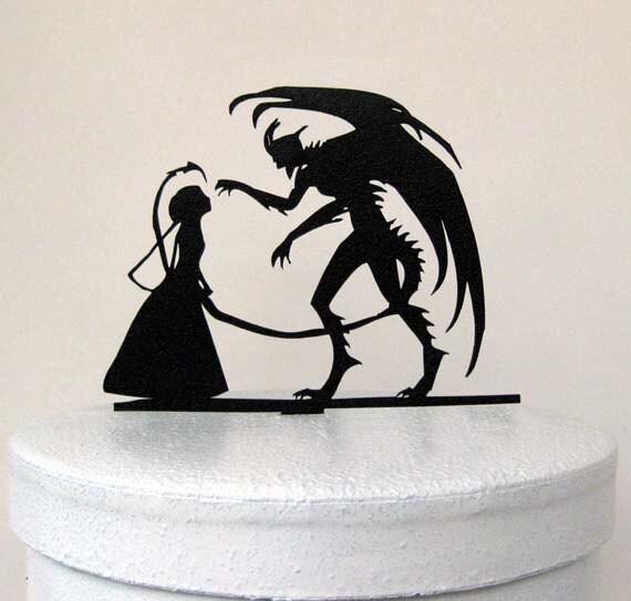 Wedding Cake Topper Halloween Wedding Cake Topper Devil