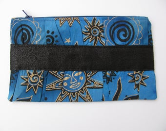 Celestial Sun and Stars Gathered Clutch Purse