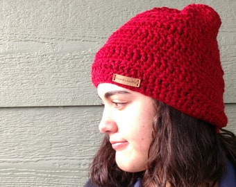 DIY Pattern for Hand crocheted Beanie hat PDF downloadable file with pattern instructions