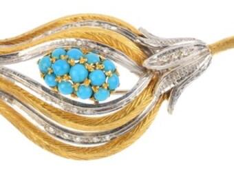 DIAMOND TURQOISE PENDANT