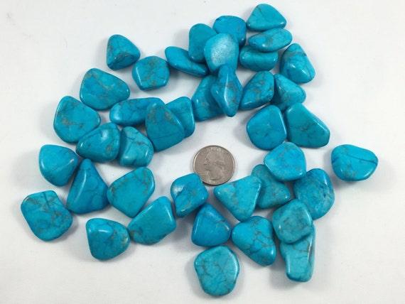 Beautiful Polished HOWLITE// PURPLE Howlite// BLUE Howlite// Dyed Howlite// Tumbled Stones// Healing Gemstone// Healing Tools// Home Decor