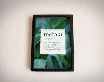 Meraki | Definitions | Grass Field | Colour | Digital Print | Home Decor |