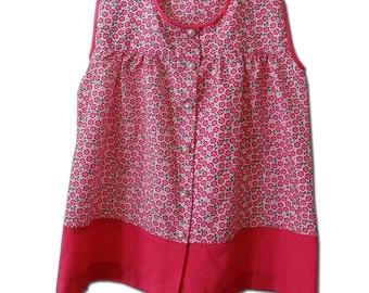 Handmade Floral Print Retro Style Dress. Size 2T.