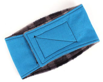 Leak proof Belly Band for male Dogs Stop Marking Inside Solid Blue