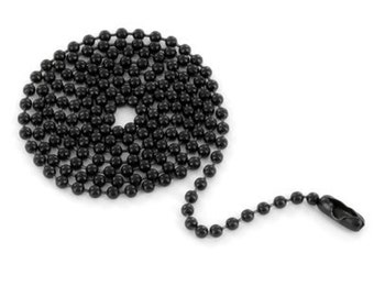24 inch Black Stainless Steel Ball Chain