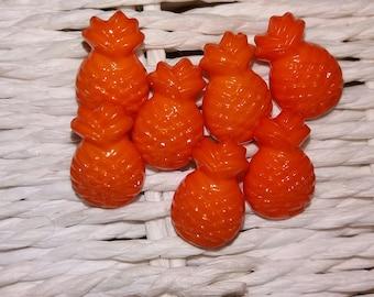 set of 7 original pineapple Orange buttons