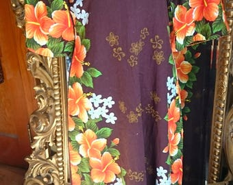 Vintage 1960's Hawaiian Tiki Aloha Dress