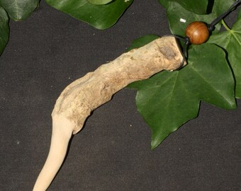 Knotted English Ivy Wood Wand Pendant - to overcome challenges - Pagan, Wicca, Witchcraft