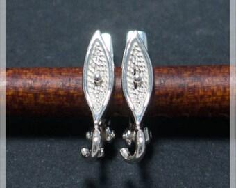 Sterling Silver Leverback, Ear hooks, Ear wire,  earrings components B06