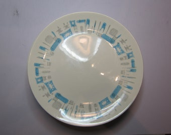 Blue Heaven Mid Century Modern Plates - Made in the USA