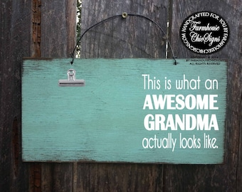 grandma, gift for grandma, grandma picture frame, grandma sign, grandma decoration, Christmas gift for grandma, awesome grandma, 264