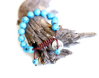 Premium Mala Beads Bracelet for Women - 8mm Mala Bead Bracelet Women - Turquoise - Beaded Bracelet