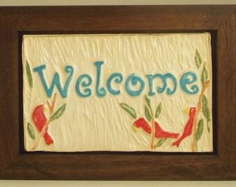 Welcome--Framed Tile