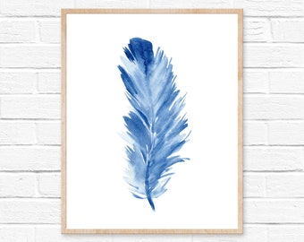 Watercolor Feather Art Print Feather Art Feathers Nature Painting Tribal Watercolor Feathers Wall Art Boho Nature Art Feather Painting Art