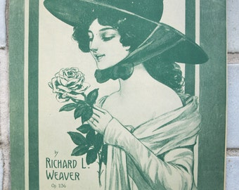 Vintage/ Antique Sheet Music – Adoration a meditation by Richard L. Weaver – 1923
