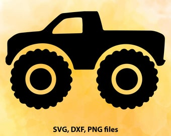 Monster Truck SVG File Cutting Template-Vector Clip Art for Commercial & Personal Use Cricut,Cameo,Explore,SCAL,Decal,Silhouette,Wall Vinyl