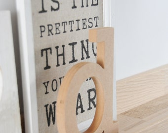 """Standing wooden letter, 10cm/4"""", MDF lowercase letter, unfinished craft letters // Perfect for decoupage or paint"""