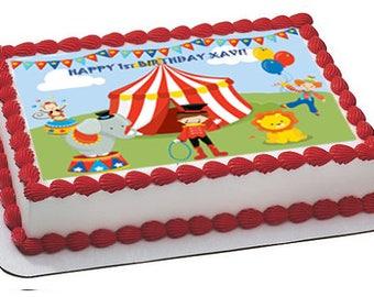 Circus Edible Cake Topper Image Carnival
