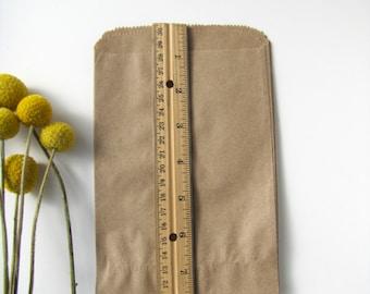 100 Kraft Paper bags, Kraft Favour bags, Rustic wedding paper bags
